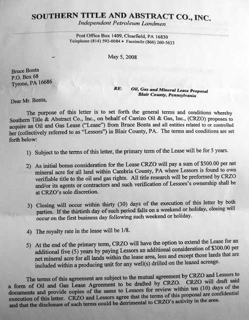 rental proposal letter